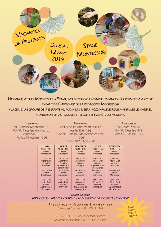 Affiche_stage_vacances_printemps_2019